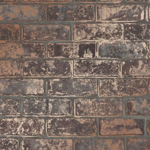 Image of Fine décor Brown Brick effect Wallpaper