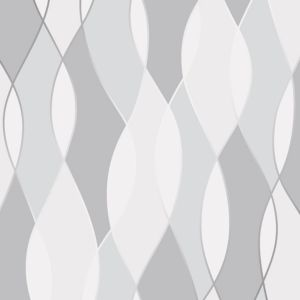 Image of Fine décor Grey Geometric Wallpaper