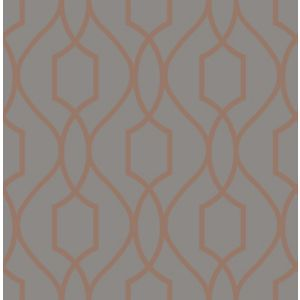 Image of Fine décor Apex Charcoal Geometric Metallic effect Wallpaper