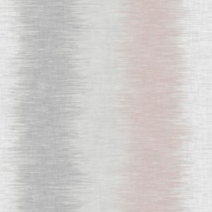 Image of Fine décor Aukland Pink & Grey Striped Wallpaper