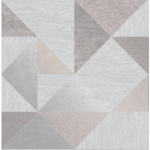 Image of Fine décor Melrose Grey Geometric Metallic effect Wallpaper