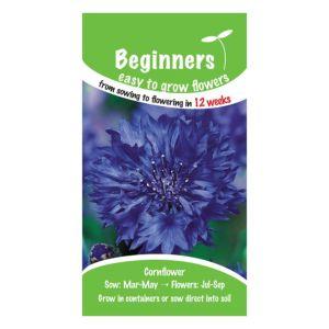 B&Q/Outdoors/Gardening/Suttons Beginners Cornflower Seeds  Double Blue Mix