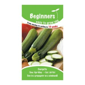 B&Q/Outdoors/Gardening/Suttons Beginners Courgette Seeds  F1 Green Bush Mix
