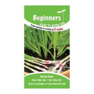 B&Q/Outdoors/Gardening/Suttons Beginners Spring Onion Seeds  Apache Mix