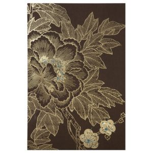 View Lhasa Lotus Blue, Brown & Gold Canvas (W)625mm x (H)925mm details