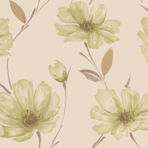 View Spirit Floral Cream & Green Wallpaper details