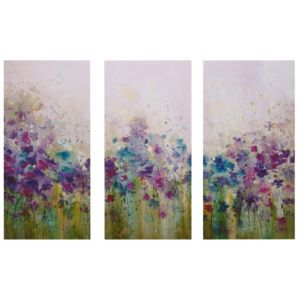 View Meadow Flowers Blue, Green, Pink & Purple Wall Art x (H)90cm details