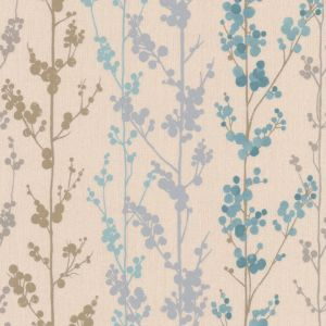 View Berrie Teal Wallpaper details