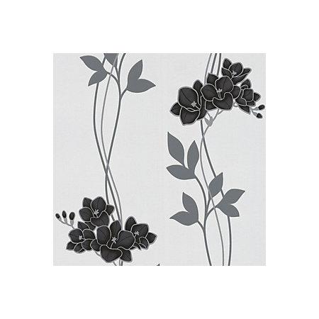 Graham & Brown Superfresco Black Ornamental Orchid ...