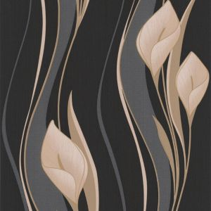 View Peace Lilies Black & Cream Wallpaper details