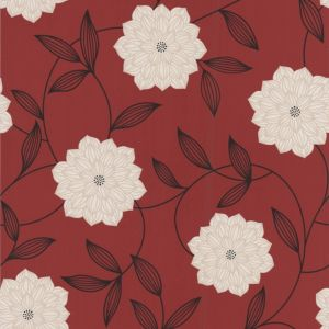 View Vision Floral Red Wallpaper details