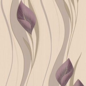 View Peace Lilies Cream & Plum Wallpaper details