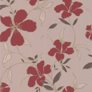 View Super Fresco Paste The Wall Rapture Beige & Red Wallpaper details