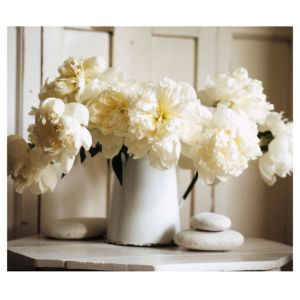 View Medium White Vases with Flowers Canvas details