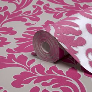 View Majestic Hot Pink Damask Wallpaper details