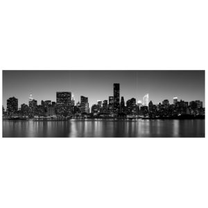 View New York At Night Black & White Wall Art (W)20cm (H)20cm details