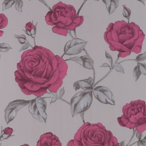 View Countess Floral Grey & Pink Wallpaper details