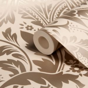 View Desire Taupe Damask Wallpaper details