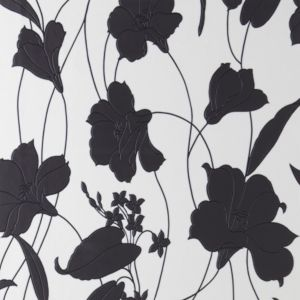 View Contour Marylou Black & White Wallpaper details