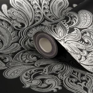 View Cote Coutre Damask Black Wallpaper details