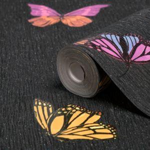 Photo of Graham & brown julien macdonald flutterby black butterfly wallpaper