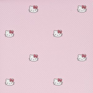 View Pink Hello Kitty Polka Dots Wallpaper details
