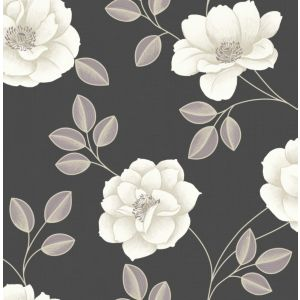 View Super Fresco Paste The Paper Flavia Grey & White Wallpaper details