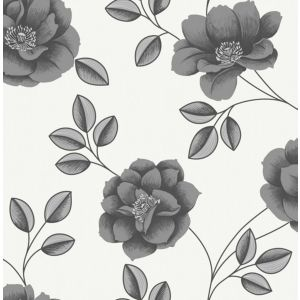 View Super Fresco Paste The Paper Flavia Black Wallpaper details