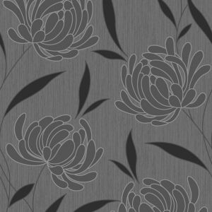 View Nadine Black Floral Wallpaper details