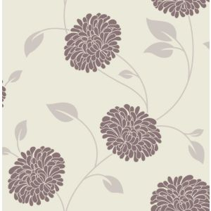 View Bronte Floral Chocolate & Cream Wallpaper details