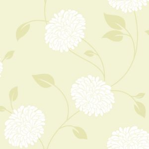 View Super Fresco Paste The Paper Bronte Lemon & White Wallpaper details