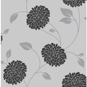View Bronte Floral Grey Wallpaper details