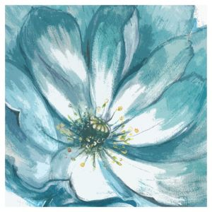View Flower Teal Canvas details
