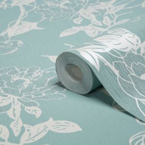 View Jiao Cream & Duck Egg Wallpaper details