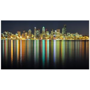 View River City Multicolour Wall Art (W)90cm x (H)50cm details