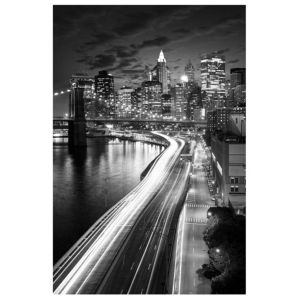 View Moving City Black & White Wall Art (W)40cm x (H)60cm details
