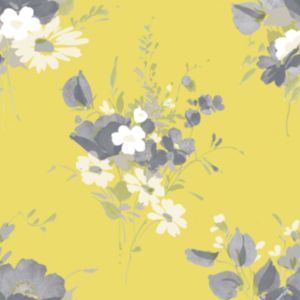View Graham & Brown Blue Label Spring Bouquet Grey & Yellow Wallpaper details