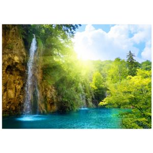 View Magical Waterfall Multicolour Canvas (W)1025mm x (H)725mm details