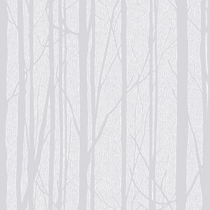 Image of Craig & Rose White Trees Paintable Wallpaper