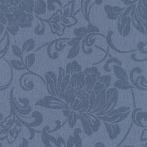 View Jacquard Denim Floral Wallpaper details