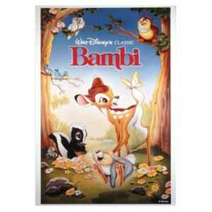 Bambi Multicolour Canvas Art (W)35cm (H)50cm