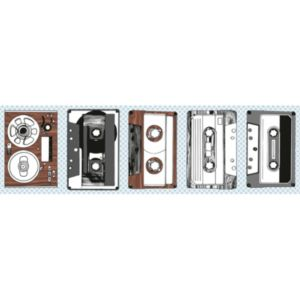 View Self Adhesive Retro Music Brown & White Border details