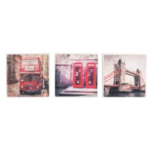 View London Pastel Red Canvas (W)30cm (H)30cm details
