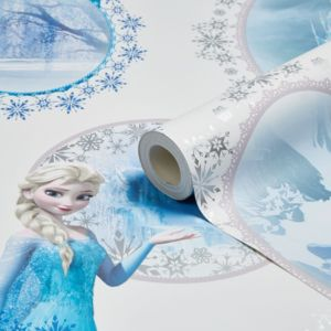 Disney Blue & Purple Disney Frozen Elsa Mica Effect Wallpaper