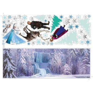 disney frozen multicolour wall sticker l 700mm w 50cm fine d 233 cor home grey self adhesive wall sticker