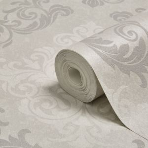 Image of Graham & Brown Elegance Silver Mica Wallpaper
