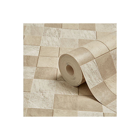 Contour beige natural stone tile kitchen bathroom for Stone bathroom wallpaper