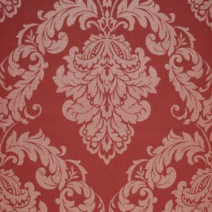 Image of Gothica Red Damask Metallic Wallpaper