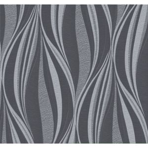 Image of Graham & Brown Boutique Black & Silver Tango Glitter Effect Wallpaper