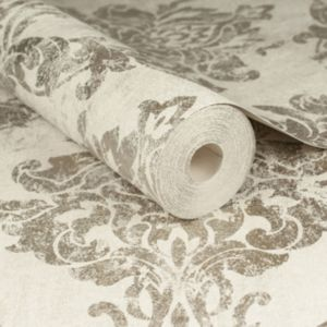 Image of Graham & Brown Boutique Gold & opal Wallpaper